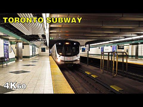Toronto Pandemic Subway Transfer At Bloor-Yonge Station [4K]