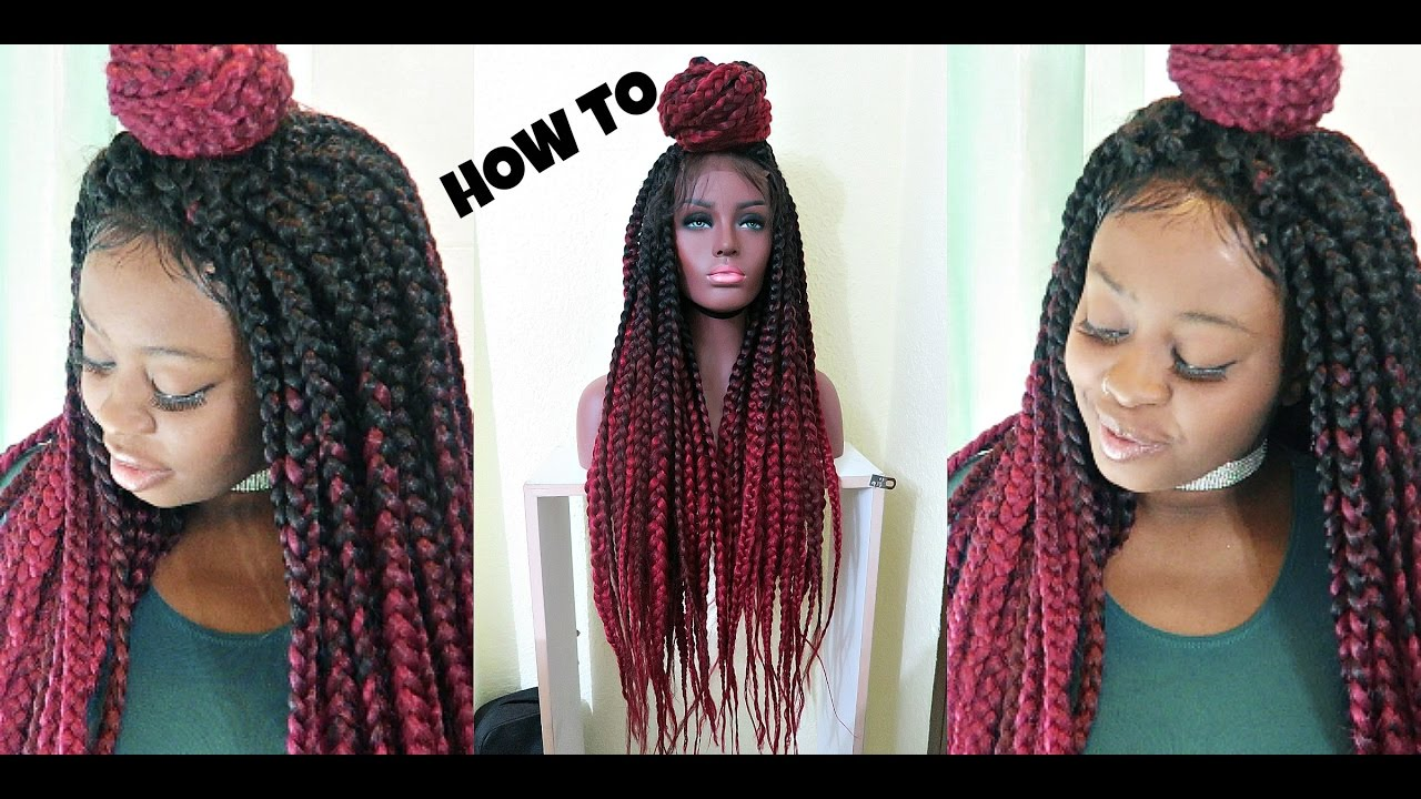 How To Crochet Box Braids Tutorial Invisible Parting Method