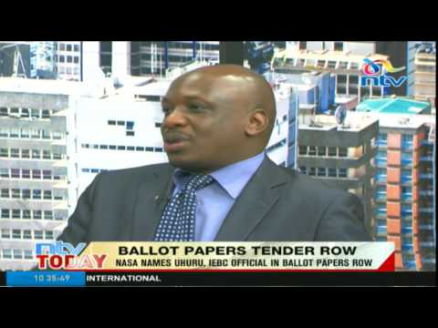 Ballot papers tender row