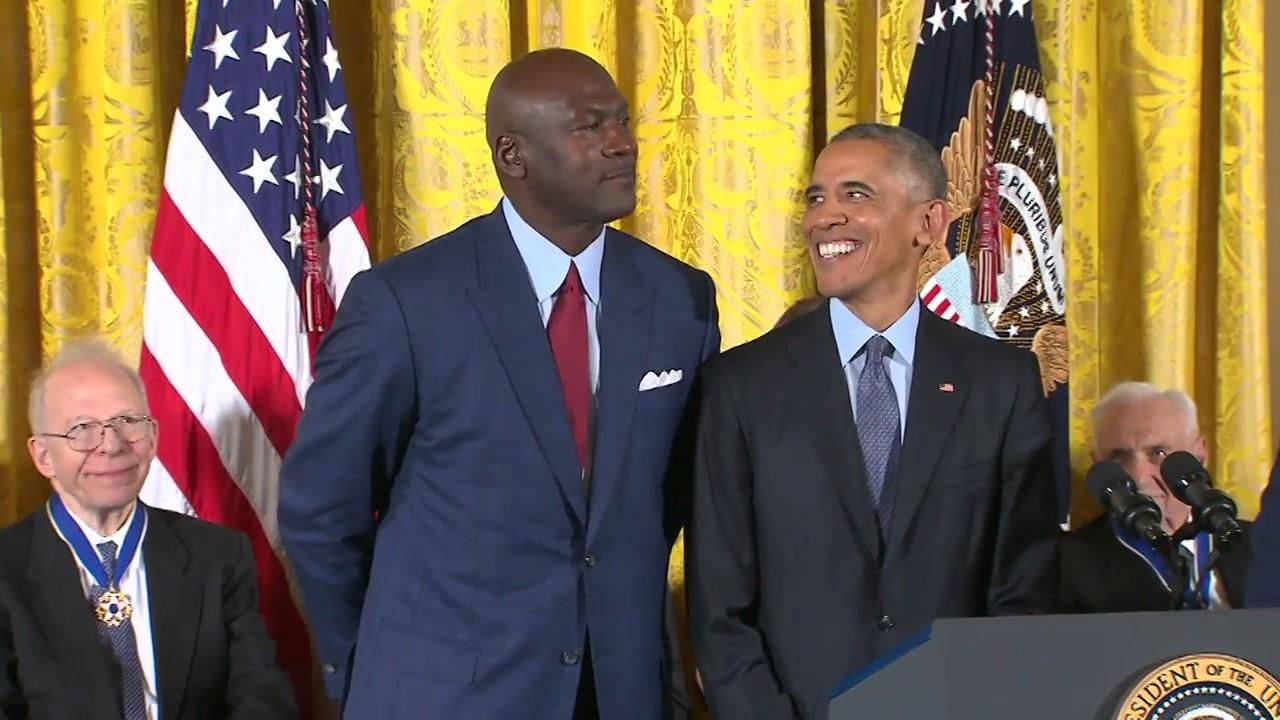 President Obama calls Michael Jordan