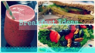 Fall Breakfast Ideas | Berry Salad, Breakfast Sandwich, And A Smoothie