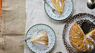 Gingered Pear + Brown Butter Upside Down Cake