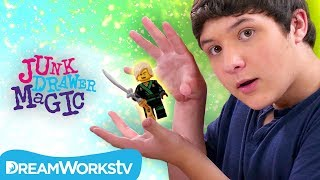 Levitating LEGO Trick | The LEGO NINJAGO Movie Presents JUNK DRAWER MAGIC
