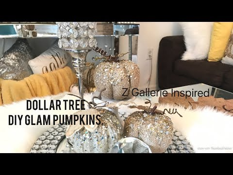 Dollar Tree Diy Glam Pumpkins || Z GALLERIE Inspired