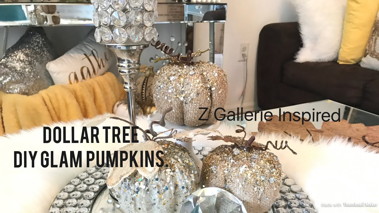 Dollar Tree Diy Glam Pumpkins Z Gallerie Inspired