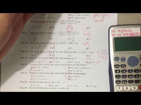 [Toán 11] Tổng ôn trắc nghiệm hàm số lượng giác  - Phần 2