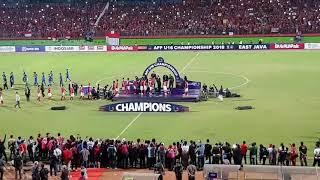 FINAL PIALA AFF U16 INDONESIA VS THAILAND #CELEBRATION