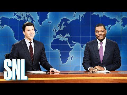 Смотреть Weekend Update: Colin Jost and Michael Che Switch Jokes - SNL онлайн