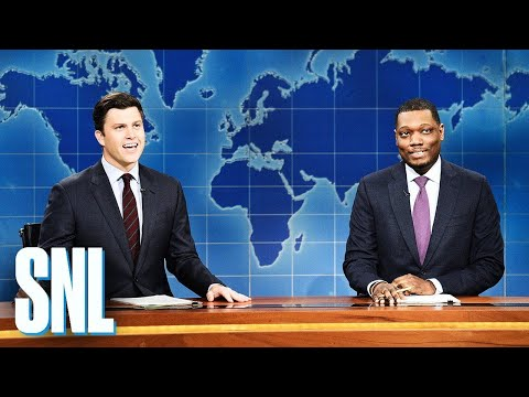 The Man Cave - Weekend Update: Colin Jost and Michael Che Switch Jokes - SNL