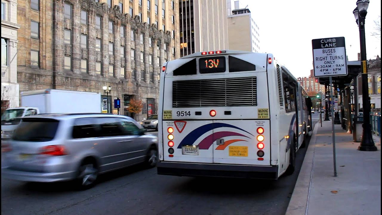 new jersey transit bus and light rail action at broad street washington park youtube. Black Bedroom Furniture Sets. Home Design Ideas