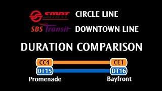 SMRT Circle Line VS SBS Transit Downtown Line: Promenade → Bayfront
