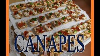 Canapes y bocadillos para fiestas. banquetes y buffet. D.F. Mexico