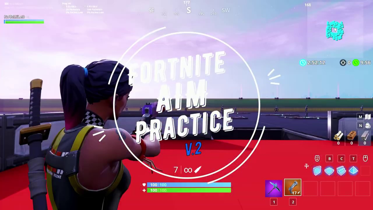 Fortnite Aim Practice Course V2 - (WITH BOTS!) - YouTube