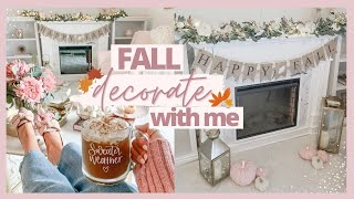 FALL DECORATE WITH ME 2020 🍁🍂 | AFFORDABLE FALL LIVING ROOM DECOR + PUMPKIN SPICE LATTE RECIPE 🎃