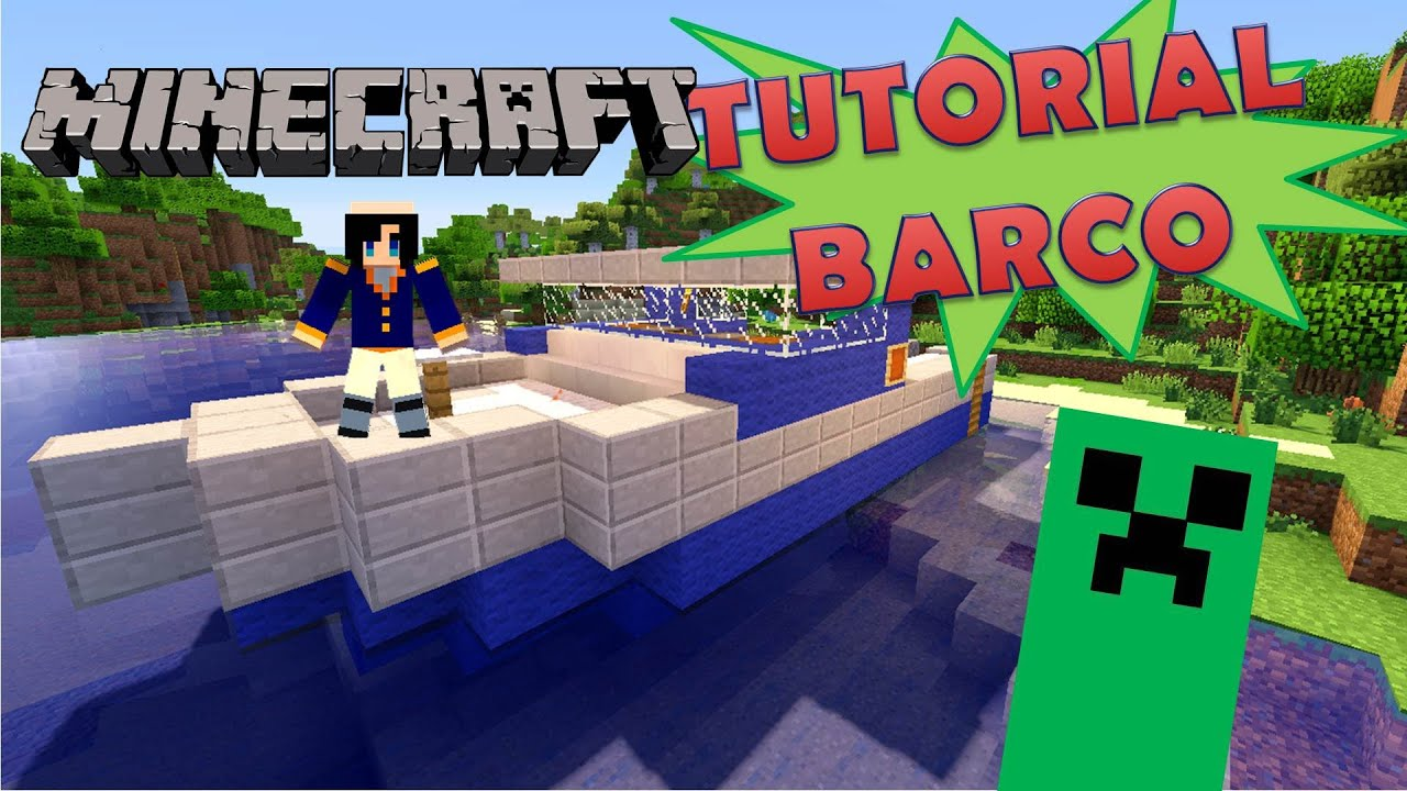 Minecraft como hacer un barco super tutorial sin mods for Casa moderna rey zerch