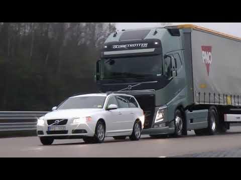 Система аварийного торможения Volvo (CW-EB) с полной загрузкой