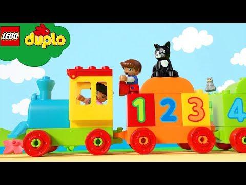 LEGO Number Train   NEW!   LEGO DUPLO   Kids Learning Videos   Nursery Rhymes