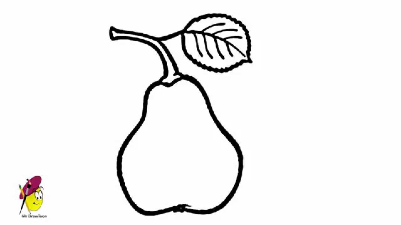 Pear How To Draw Pear How To Draw Fruits Youtube