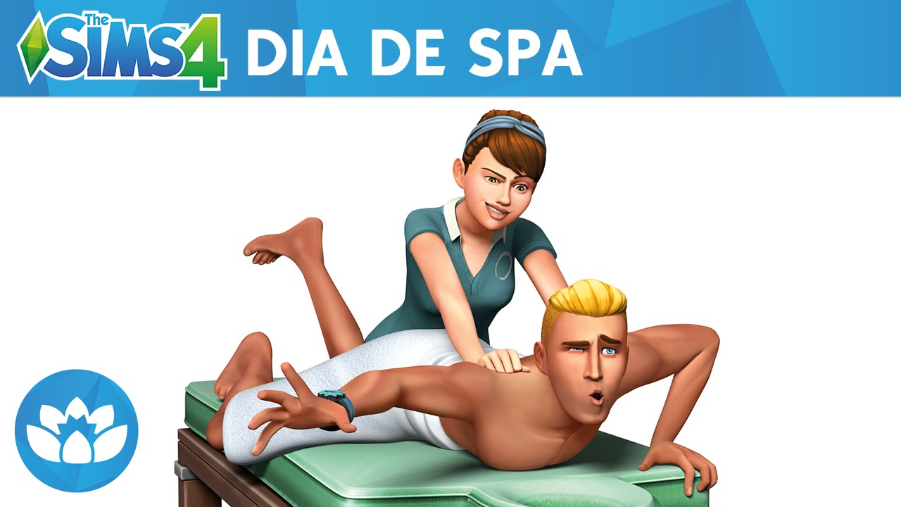 the sims 4 dia de spa trailer oficial youtube. Black Bedroom Furniture Sets. Home Design Ideas