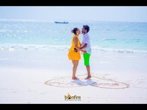 Diana And Bahati Romantic Valentines At The Chale Island  BAHATI REALITY