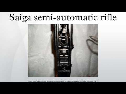Saiga semi-automatic rifle