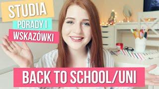 BACK TO SCHOOL/UNI · STUDIA · PORADY I WSKAZÓWKI