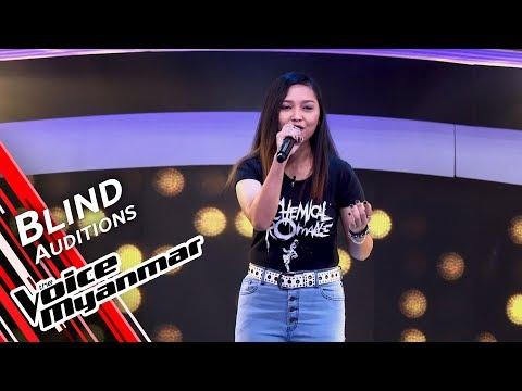 June Rose - My Happy Ending (Avril Lavigne)   Blind Audition - The Voice Myanmar 2019