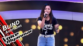 June Rose - My Happy Ending (Avril Lavigne) | Blind Audition - The Voice Myanmar 2019