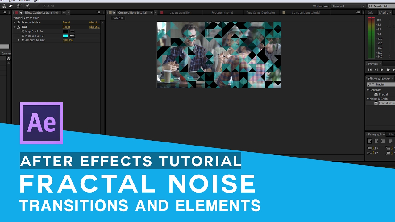 after effects tutorial - fractal noise tutorial 01- Creating Triangle  transitions and elements