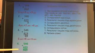 Математика, 3 класс - Письменные приемы сложения и вычитания 1 ч.