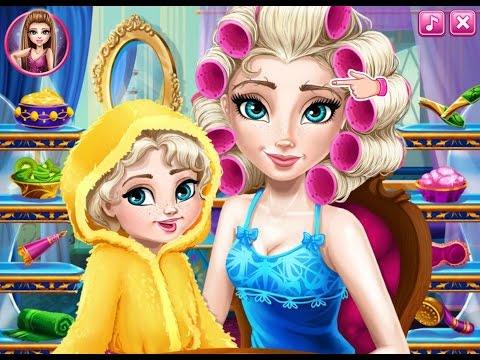 Игра макияж Королевы Эльзы! ИГРЫ для девочек! ОНЛАЙН детские игры БЕСПЛАТНО! Мультик! #игры
