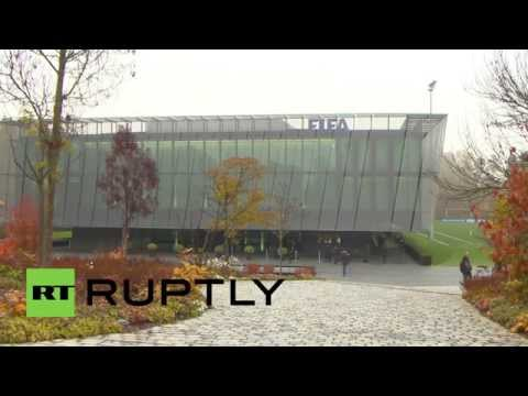 Switzerland: FIFA executives arrive for extraordinary meeting on corruption scandal