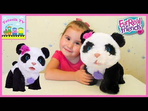 Интерактивная игрушка Малыш Панда обзор PomPom Panda FurReal Friends Hasbro