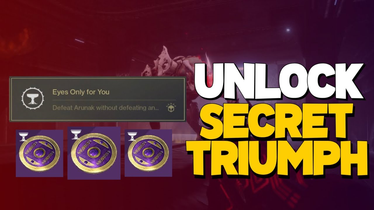 """Download UNLOCK """"Eyes Only For You'' Menagerie Secret Triumph + Week 2 Boss Guide!"""