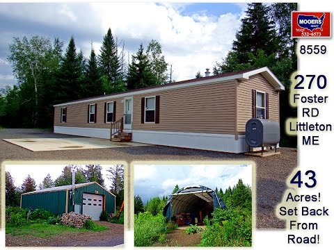 Maine Land For Sale, 43 Waterfront Acres, New Home, Garage MOOERS #8559