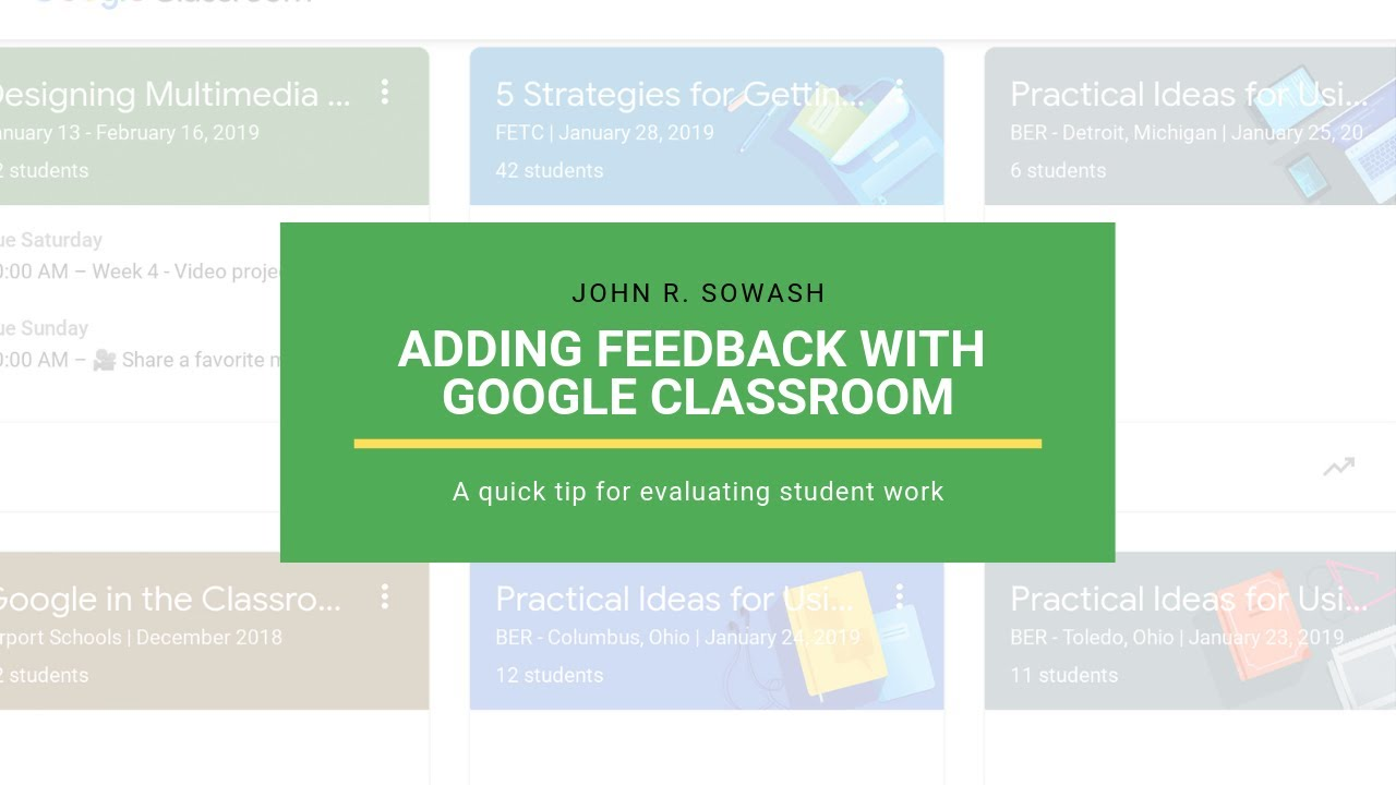 Adding comments to images in Google Classroom