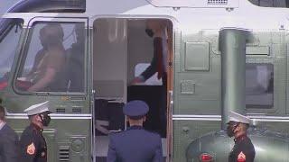 WATCH: President Joe Biden boards Air Force 1 heading to Columbus