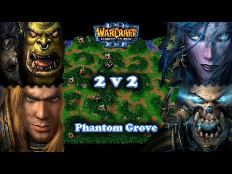 Grubby | Warcraft 3 The Frozen Throne | 2v2 Orc&HU vs. NE&UD - Phantom Grove