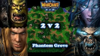 Grubby Warcraft 3 The Frozen Throne 2v2 ORC HU vs. NE UD - Phantom Grove