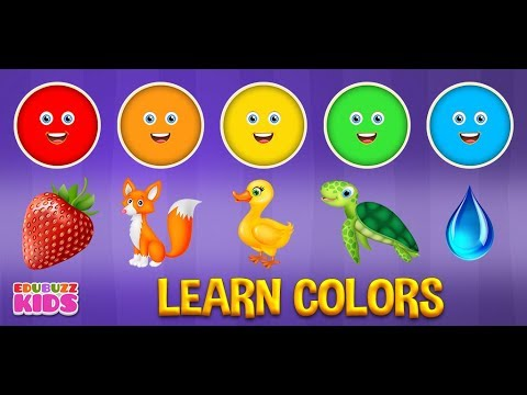 Learn Colors Game For Kids Free App From Edubuzzkids For
