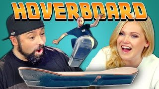 ADULTS REACT TO THE HOVERBOARD (ft. Eliza Taylor)