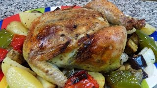 Oven Roasted Chicken With Vegetables, Easy Recipe, Easy Cooking
