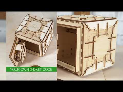 Ugears Safe - Information Video-2 | Proposal Puzzle Box, Gifts for Girlfriend/Wife | STEM Learning