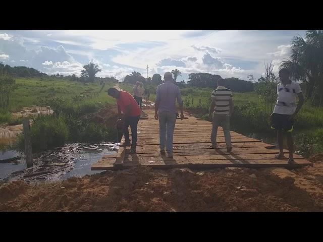 Mais uma ponte na linha 01 sempre na luta junto com o povo