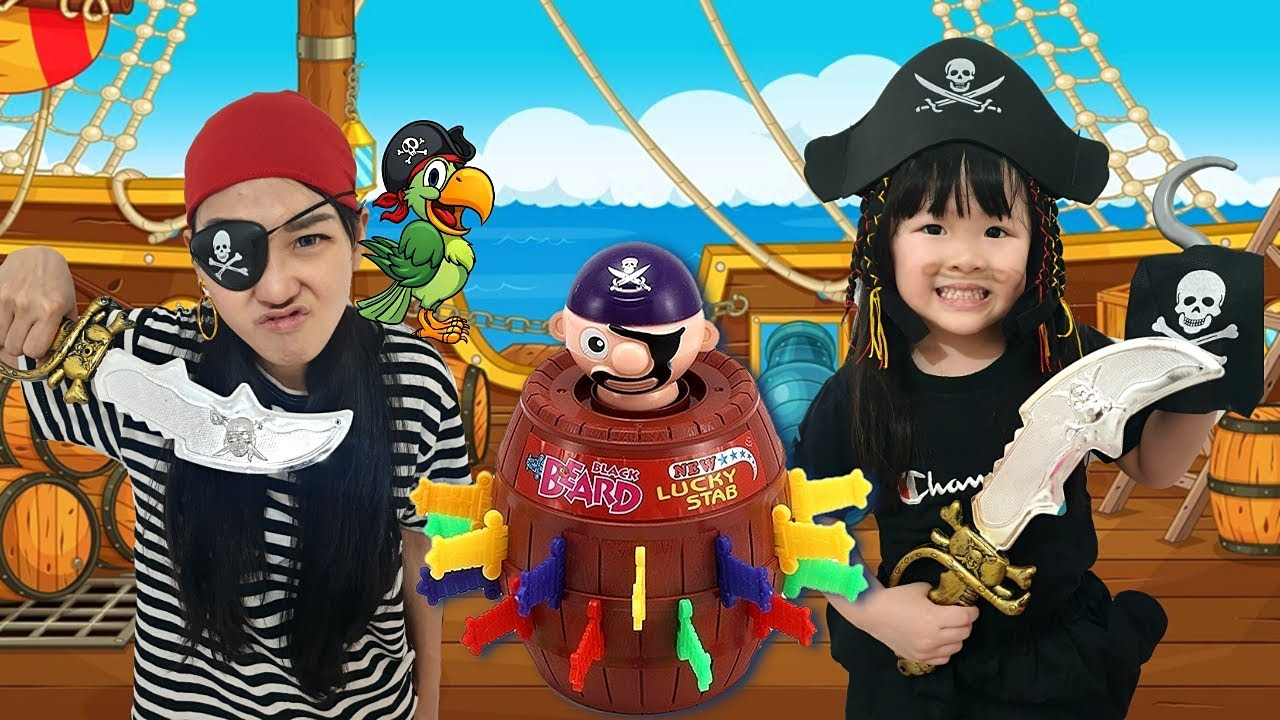 Pop Up Pirate Toy Challenge with Mommy | Fun Toys for Kids