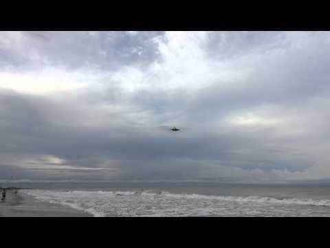 Surprise F/A-18 Hornet Final Approach Over Beach Patrick Air Force Base