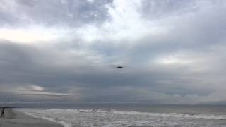 Surprise F/A-18 Hornet Final Approach Over Beach Patrick Air Force Base