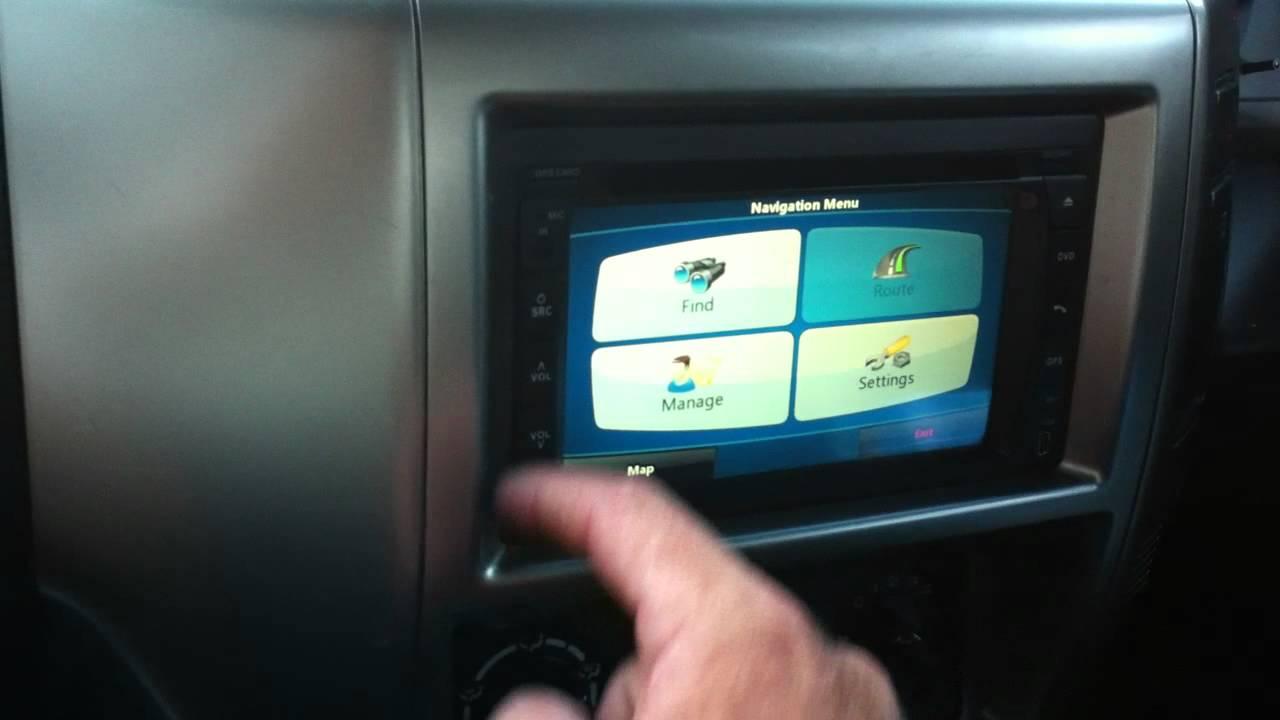 Nissan Patrol 2007 St S Dvd Gps Installation Youtube
