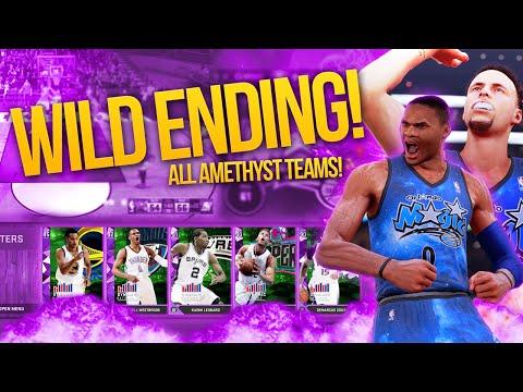 ALL AMETHYST TEAMS! WILD ENDING FT DYNAMIC STEPH AND WESTBROOK! NBA 2K16 My Team