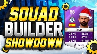 FIFA 17 SQUAD BUILDER SHOWDOWN CHRISTMAS SPECIAL!!! 88 RATED SBC COSTA!!! Costa Squad Builder Duel